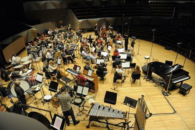 Colorado Symphony Orchestra practices