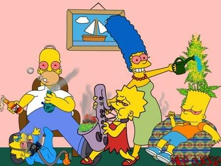 simpsons on weed