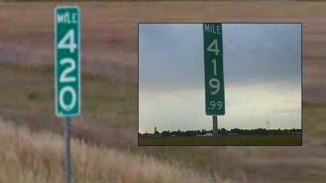 State alters 420 MM sign to thwart thieves